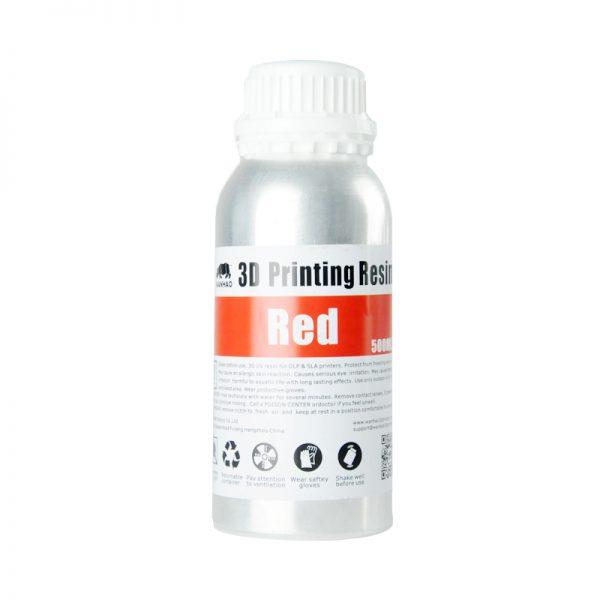 Wanhao-3D-Drucker-UV-Resin-500-ml-red