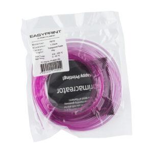 EasyPrint PETG Sample – 1.75mm – 50 g – Transparent Purple