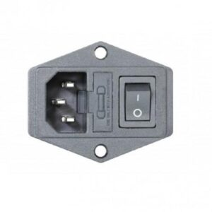 230V Power Socket with On/Off Switch and Fuse