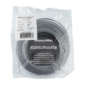 EasyPrint PETG Sample – 1.75mm – 50 g – Solid Silver