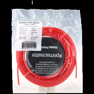 EasyPrint PETG Sample – 2.85mm – 50 g – Solid Red