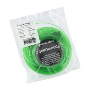 EasyPrint PETG Sample – 1.75mm – 50 g – Transparent Green