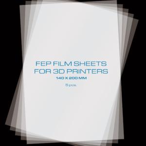 PrimaCreator FEP Film Sheets for 3D Printers – 140 x 200 mm – 5-pack