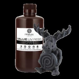 PrimaCreator Value Tough UV Resin (ABS Like) – 1000 ml – Black