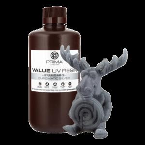 PrimaCreator Value UV / DLP Resin – 1000 ml – Chromatic Silver