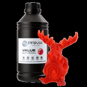PrimaCreator Value UV / DLP Resin – 1000 ml – Transparent Red
