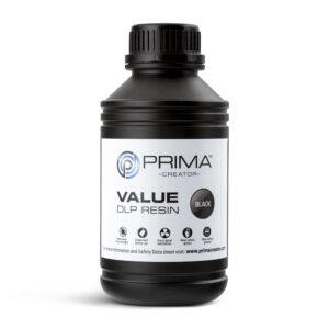 PrimaCreator Value UV / DLP Resin – 500 ml – Black