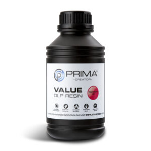 PrimaCreator Value UV / DLP Resin – 500 ml – Transparent Red