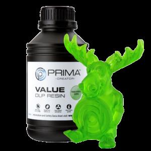 PrimaCreator Value UV / DLP Resin – 500 ml – Transparent Green
