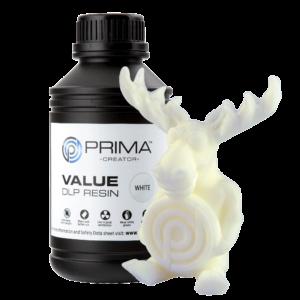 PrimaCreator Value UV / DLP Resin – 500 ml – White