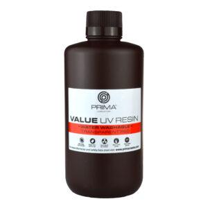 PrimaCreator Value Water Washable UV Resin – 1000 ml – Transparent Red