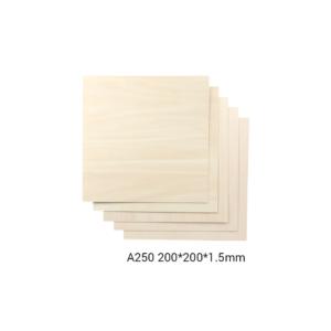 Snapmaker Basswood Sheet-A250 / 200x200x1,5mm / 5-pack