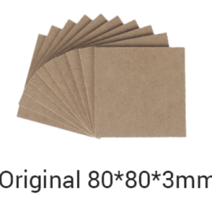 Snapmaker MDF Wood Sheet / 80x80x3mm / 10-pack