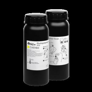 XYZprinting UV Resin Castable – 2 x 500 ml Bottles (Yellow)