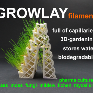 LayFilaments GROWLAY Filament – 1.75mm – 250 g – White